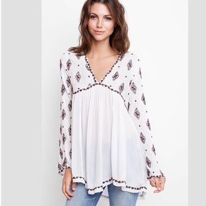 Free People Embroidered Tunic Top (NWT)